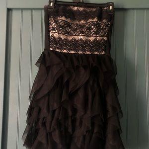 Mini Formal Black Tulle Dress